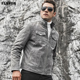 Pigskin fashion leather jacket