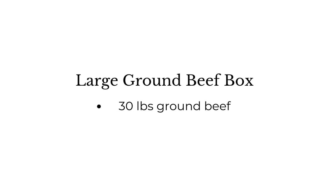 The Large Ground Beef Box