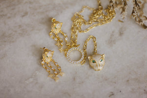 Vrouw Necklace & Earrings Set