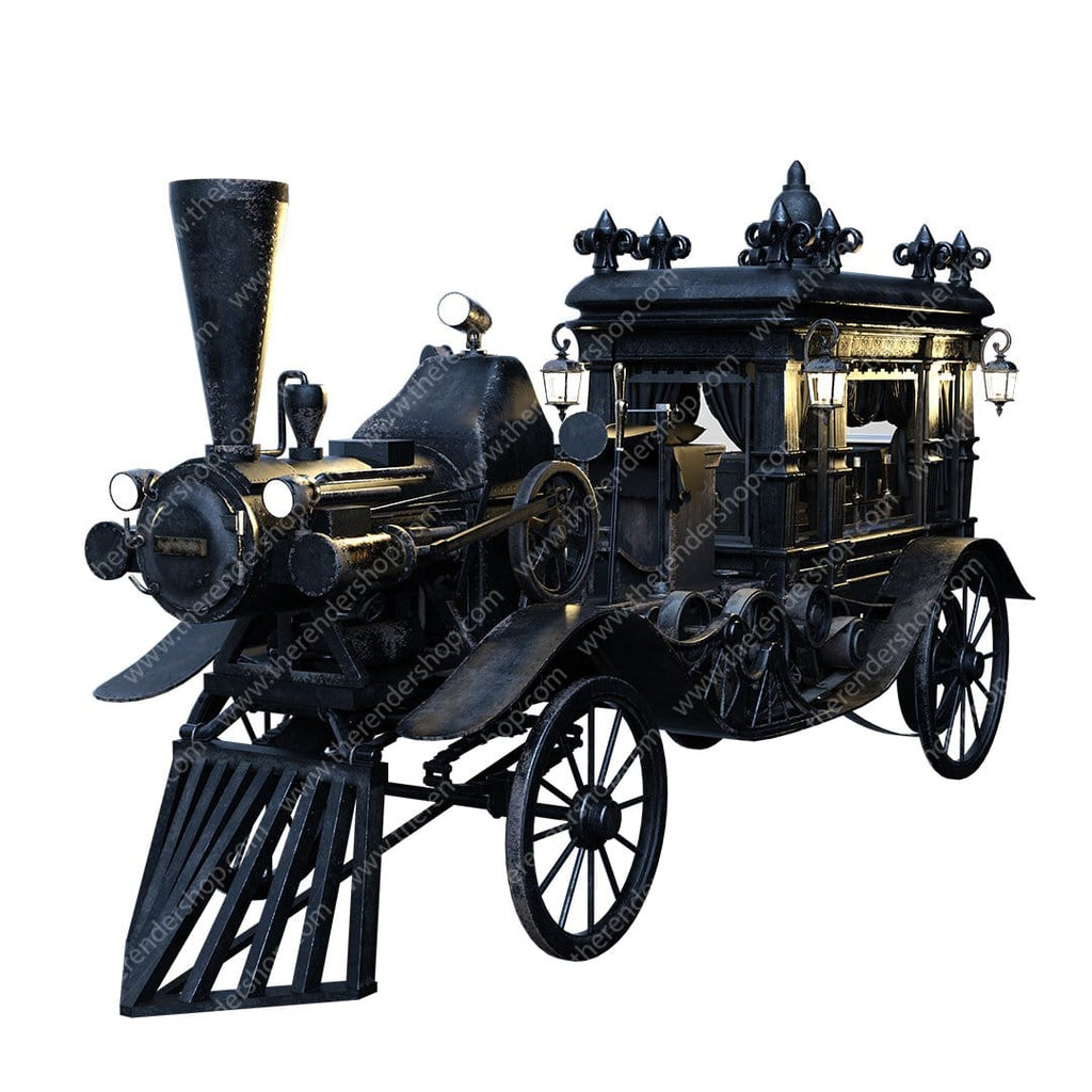 Steam Powered Hearse