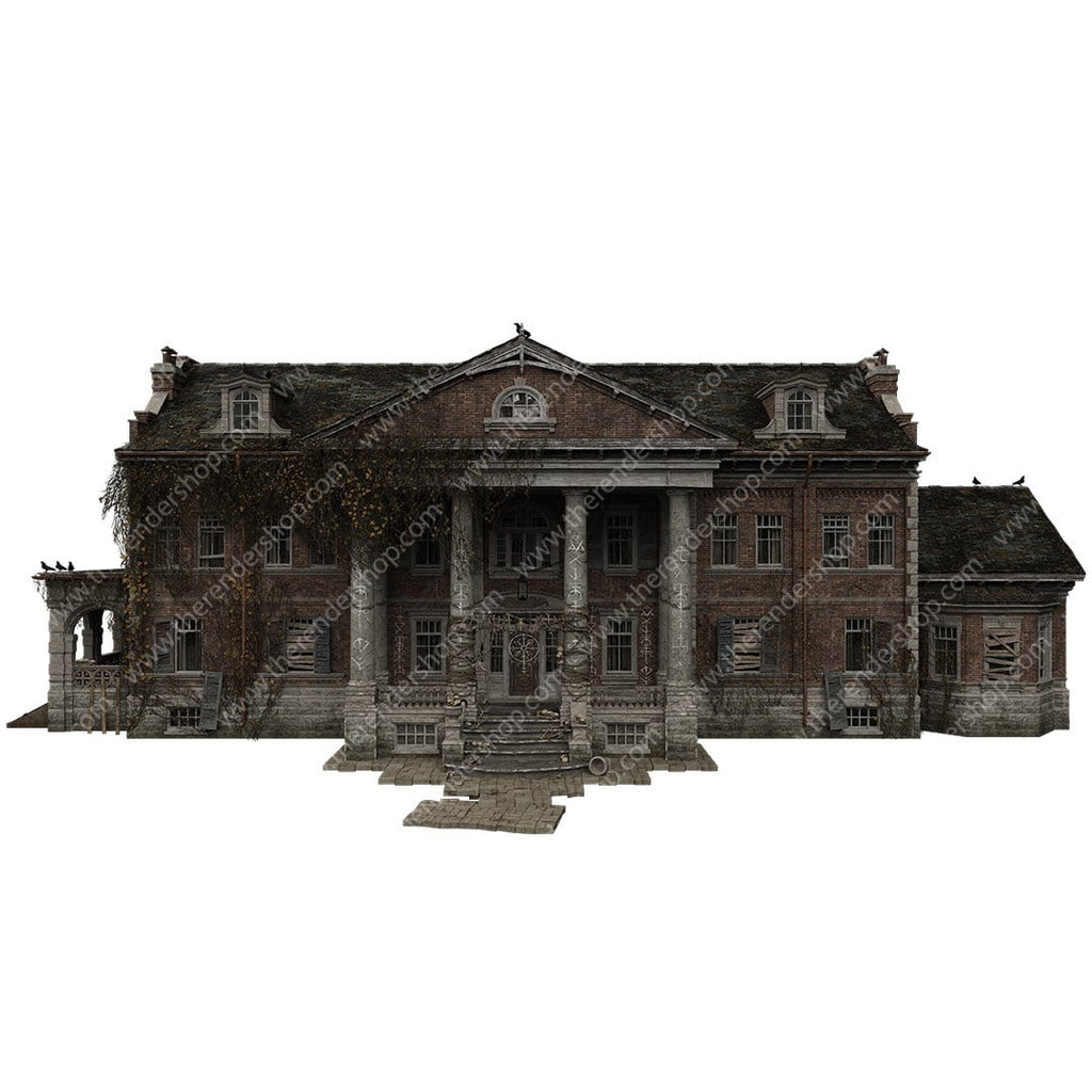 Skull Mansion Isolated