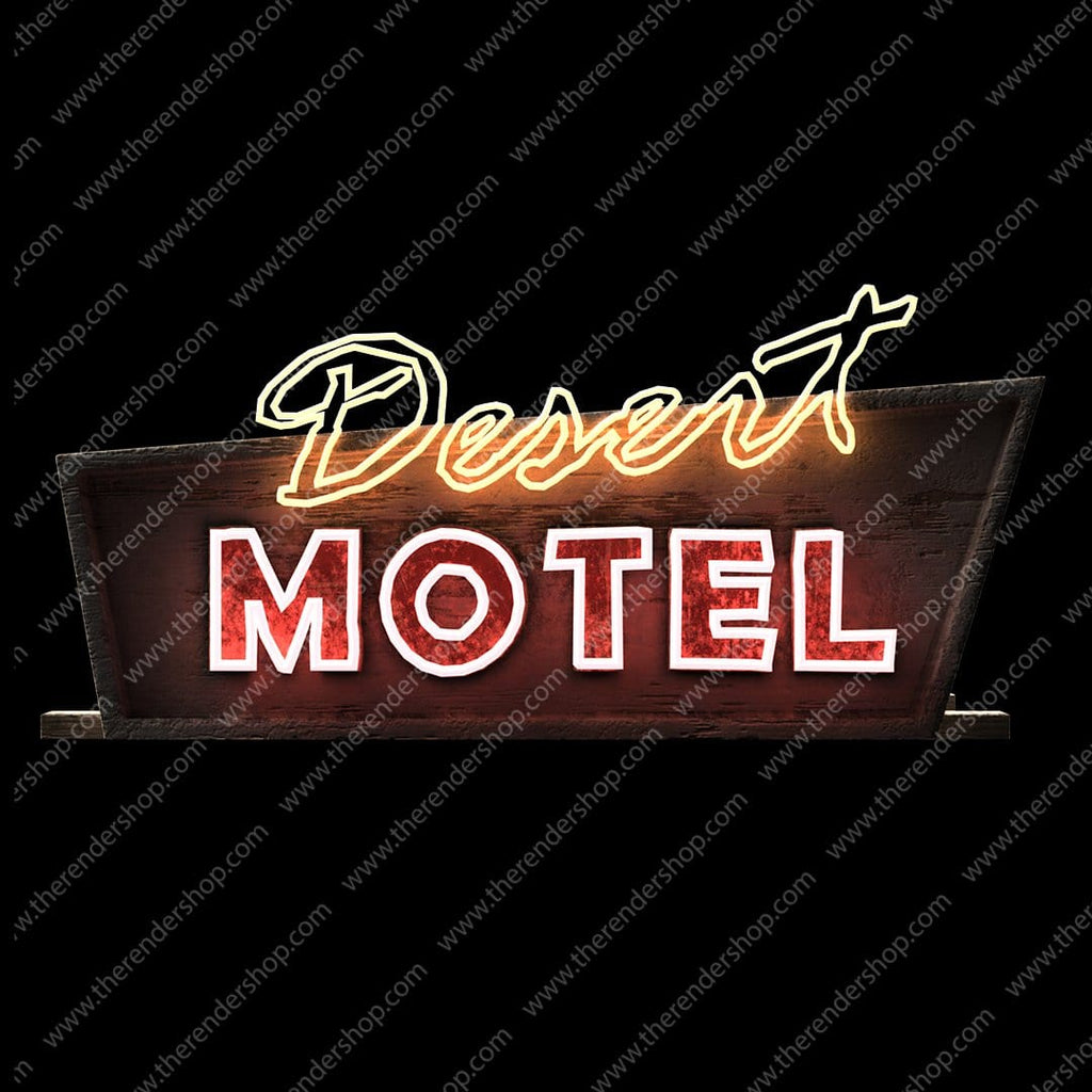 Lit Motel Sign