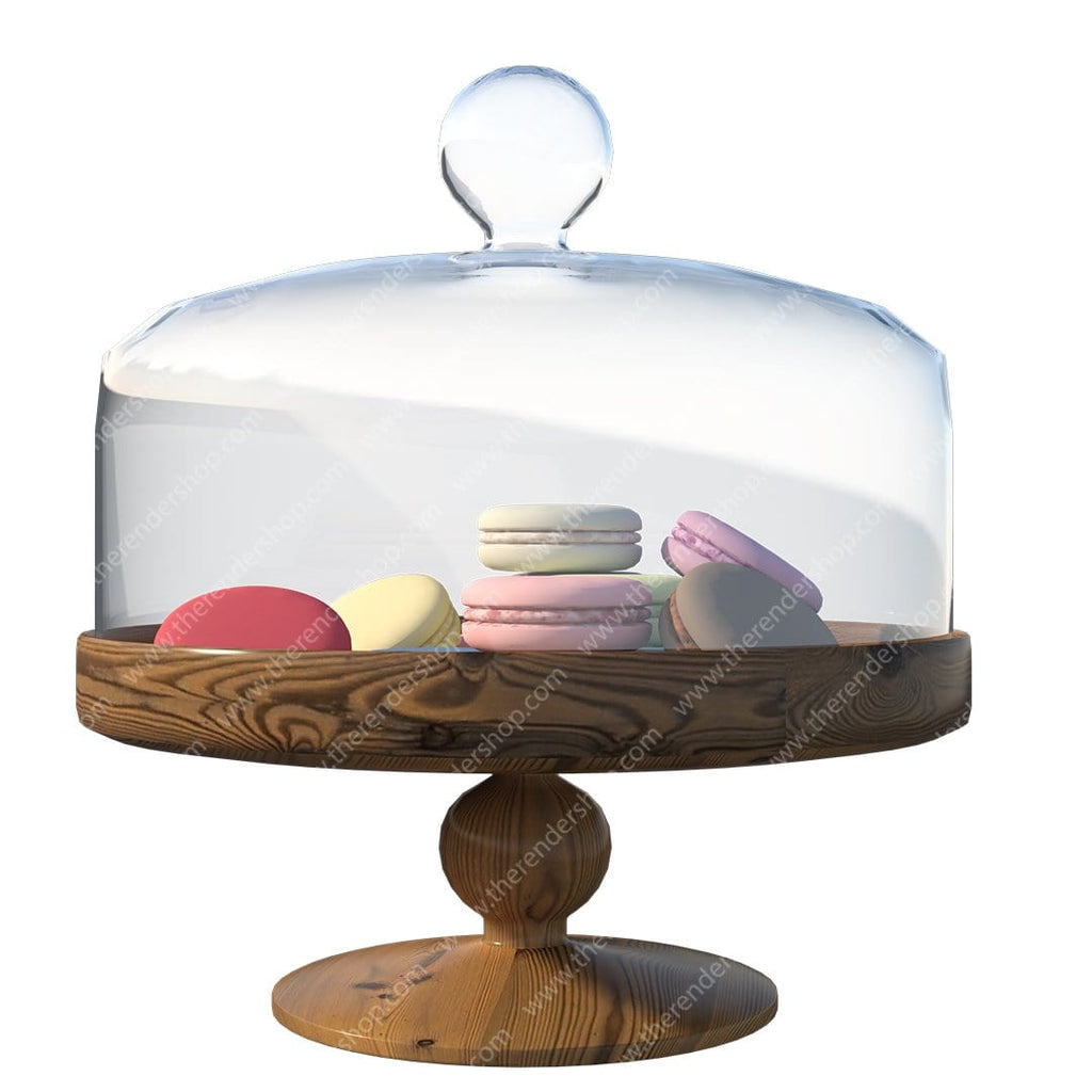 Cake Stand with Macaroons