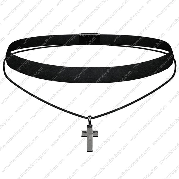 Choker with cross
