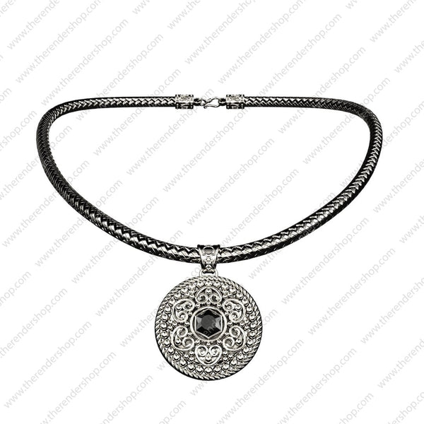 Ornate circle pendant