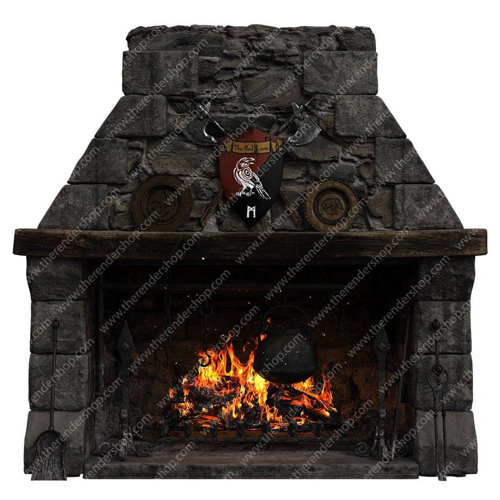 Medieval Fireplace