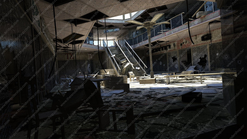 Destroyed Mall