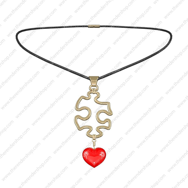 Puzzle Heart Necklace
