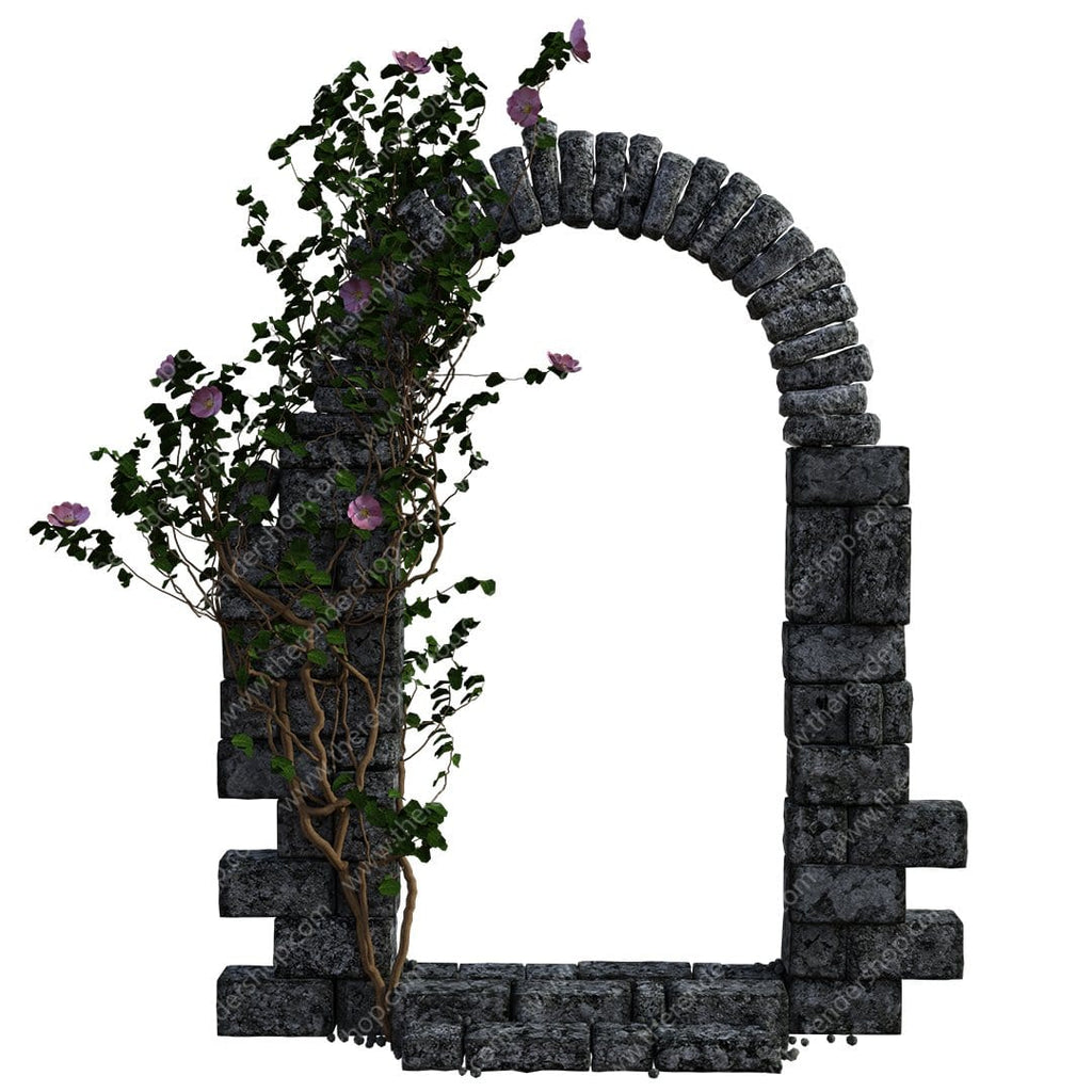 Stone Arch With Rose