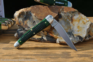 Great Eastern Cutlery #381117 Tidioute Cutlery .38 Special Tractor Green Jig Bone