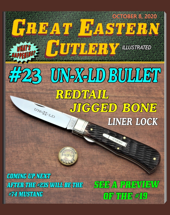 Great Eastern Cutlery #235120L Northfield UN-X-LD Pioneer Trapper LL Redtail Jigged Bone - More Coming Soon!