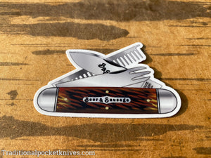 Great Eastern Cutlery #35 Beer&Sausage Sticker & #35 Bar Tool Knife Sticker