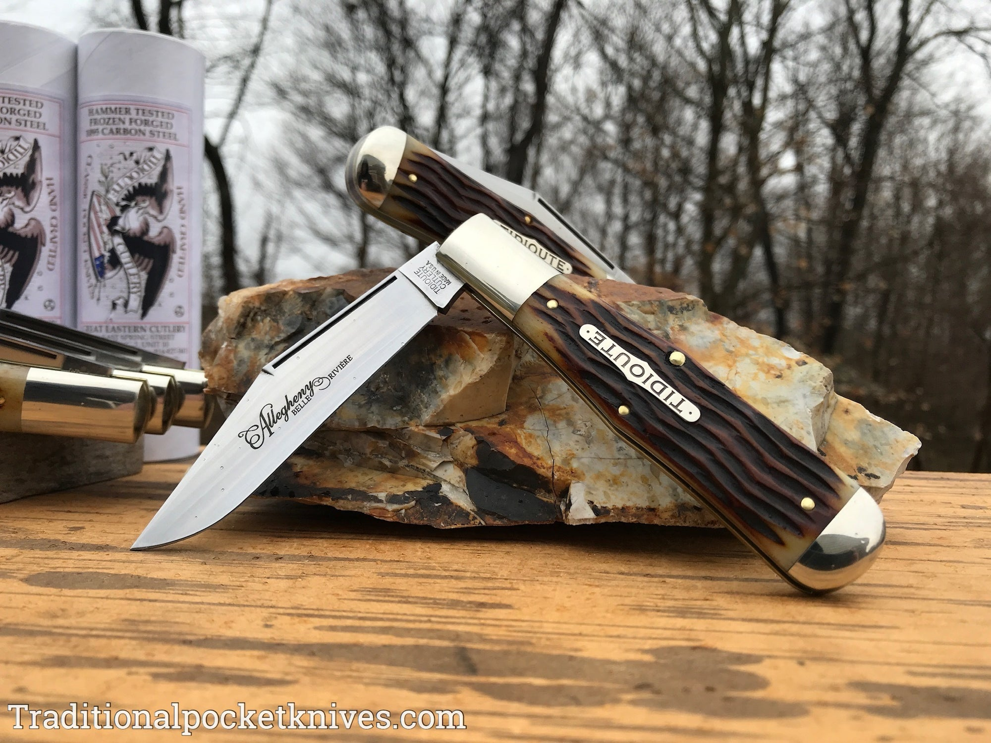 Great Eastern Cutlery #971119 Tidioute Cutlery Allegheny Autumn Gold Jig Bone