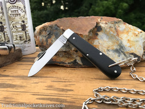 Great Eastern Cutlery #152118 Bail&Chain Tidioute Cutlery Huckleberry Boys Knife Gabon Ebony