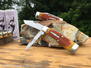 Great Eastern Cutlery #441218 Tidioute Cutlery Buffalo Jack Goldenrod Jigged Bone