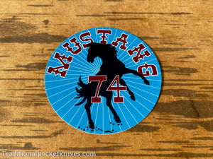 Great Eastern Cutlery #74 Mustang Sticker