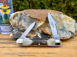 C. Risner Cutlery Logo Leather Knife Slip Extra Small
