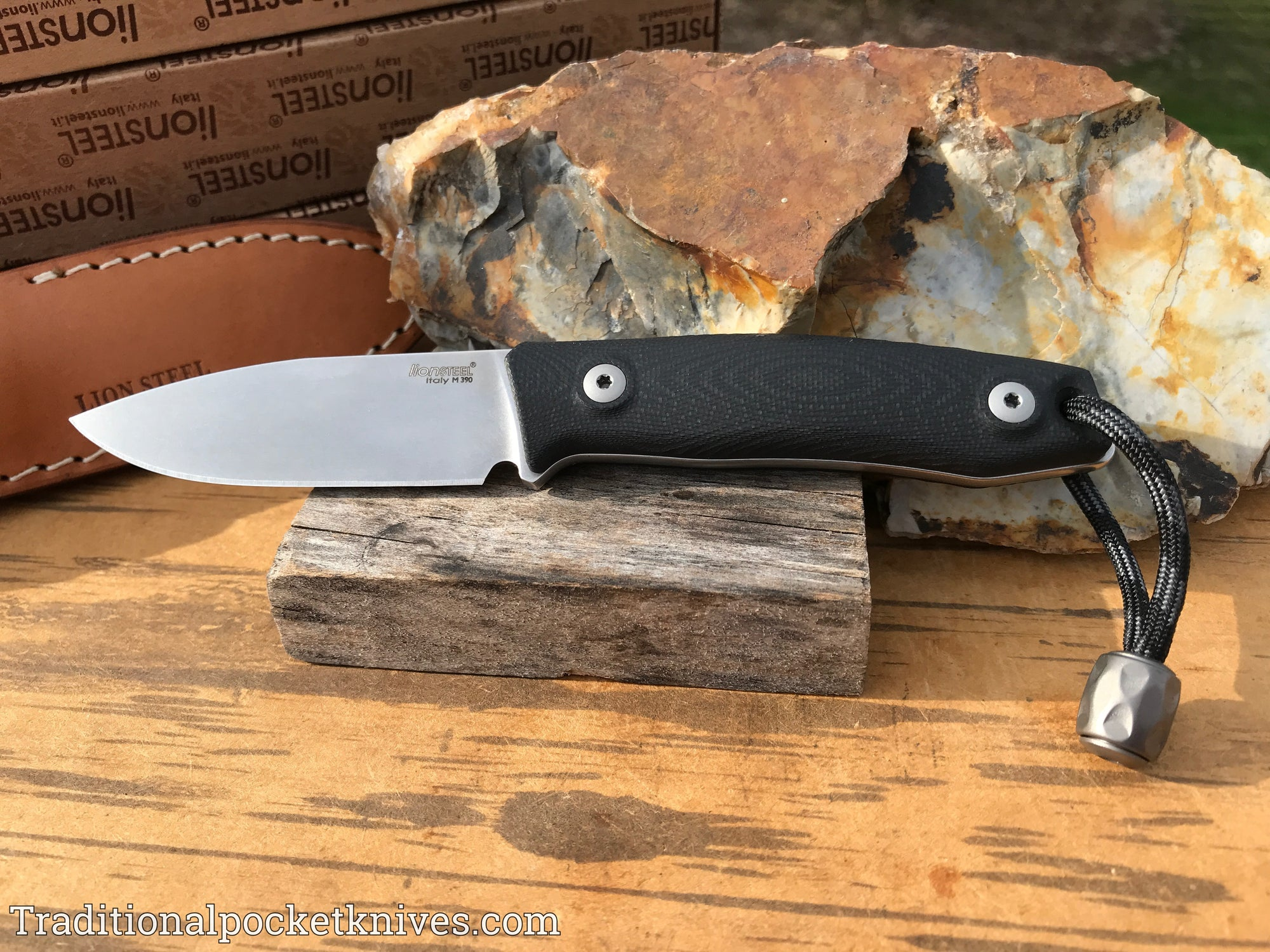 LionSteel M1 Fixed Blade Black G-10 (M1GBK)