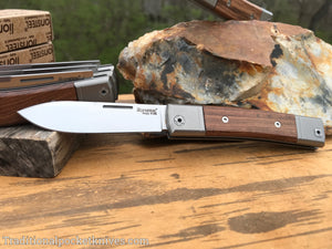 LionSteel BestMan One Blade Jack Drop Point Santos Wood (BM2 ST)