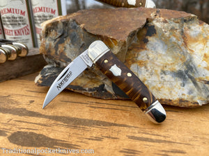 Great Eastern Cutlery #190120 Northfield UN-X-LD Little Rattler Snakeskin Acrylic