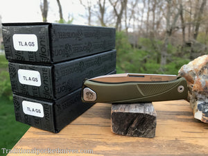 LionSteel Thrill Integral Slip Joint Knife Green Aluminum Satin (TL A GS)