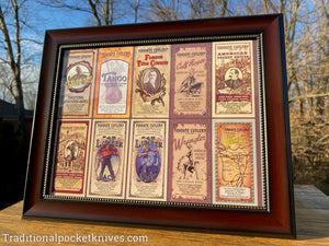 Great Eastern Cutlery Poster and Frame of Tidioute Cutlery Labels