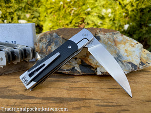 Finch Holliday Black Linen Micarta