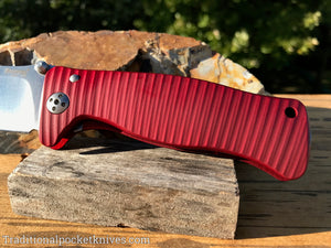 LionSteel SR1-A1 Red Aluminum Folding Knife (SR1ARS)