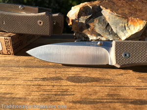 LionSteel Big Opera G10 Sand Folding Knife (8810SN)