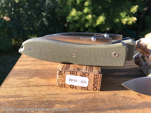 LionSteel Big Opera G10 Green Folding Knife (8810GN)