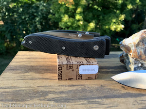 LionSteel Big Opera G10 Black Folding Knife (8810BK)