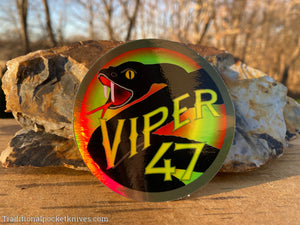 Great Eastern Cutlery #47 Viper Holographic Sticker
