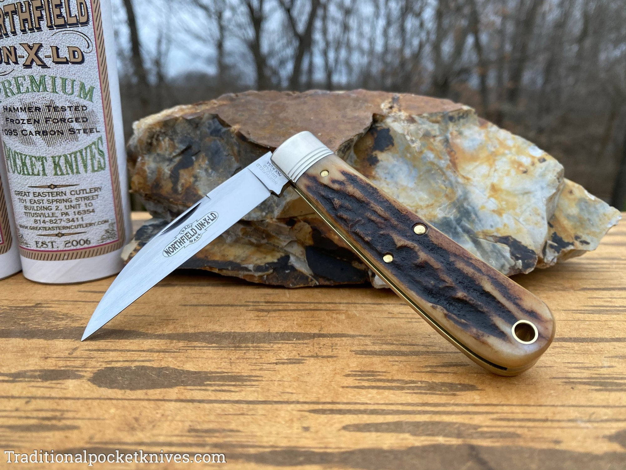 Great Eastern Cutlery #470120 Northfield UN-X-LD Viper Sambar Stag #2