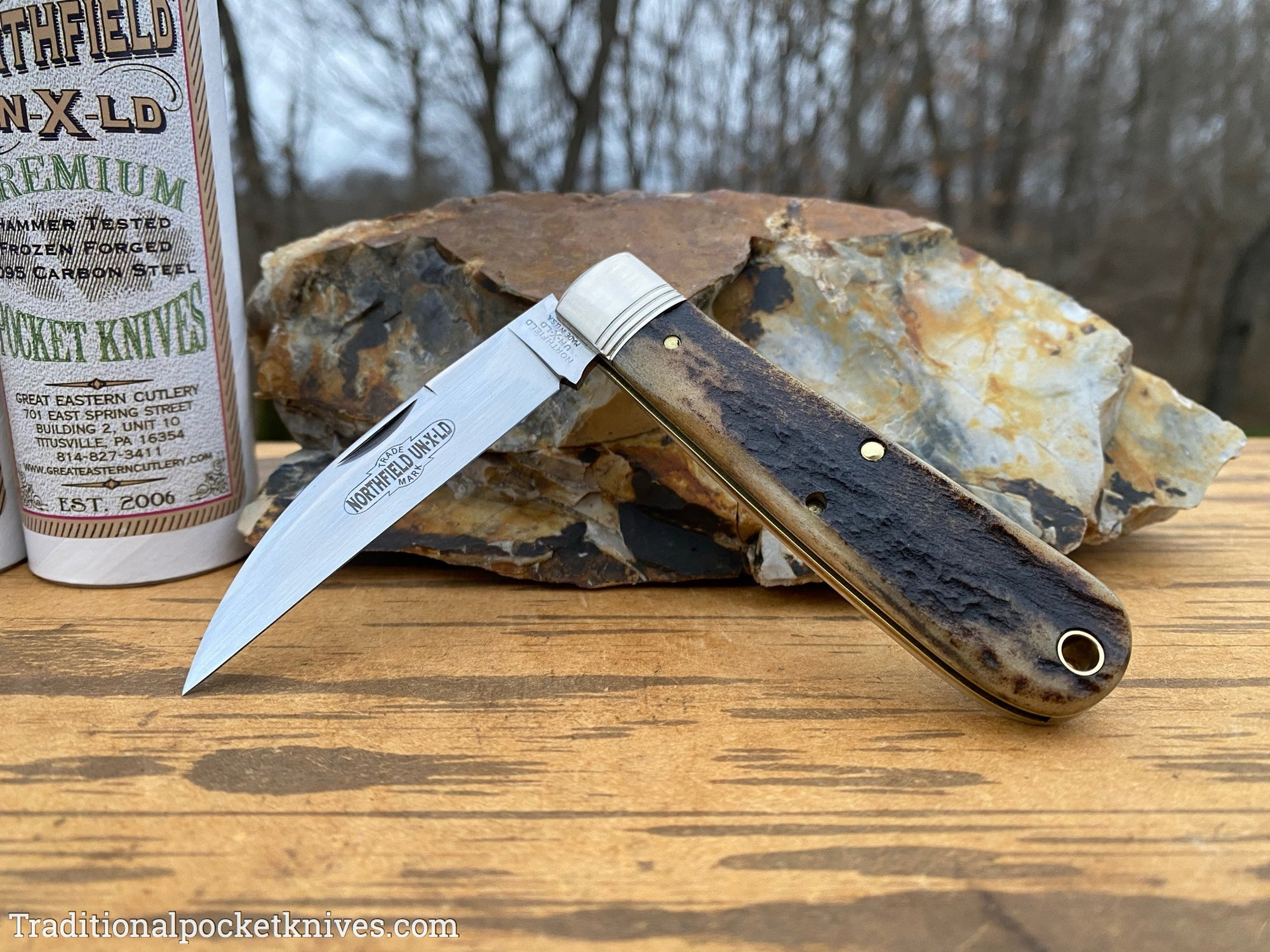 Great Eastern Cutlery #470120 Northfield UN-X-LD Viper Sambar Stag #9
