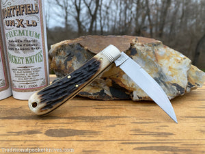 Great Eastern Cutlery #470120 Northfield UN-X-LD Viper Sambar Stag #10