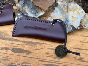 Great Eastern Cutlery Beer&Sausage Leather Knife Sleeve