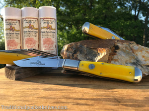 Great Eastern Cutlery #976119 Northfield UN-X-LD Allegheny Smooth Yellow Rose Bone