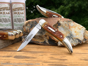 Great Eastern Cutlery #128119 Northfield UN-X-LD Toothpick Copperhead Pony Cut Bone