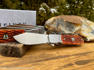 Finch Model 1929 Crawdad Tan Jigged Bone