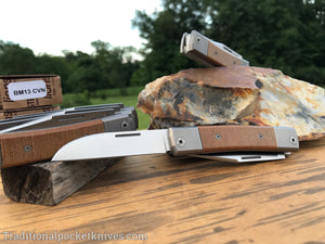 LionSteel BestMan Two Blade Jack Natural Canvas Micarta (BM13)