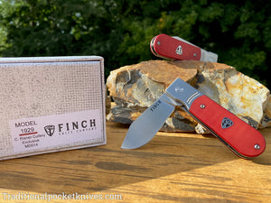 "Finch Model 1929 G-10 Red ""C. Risner Cutlery Exclusive"""