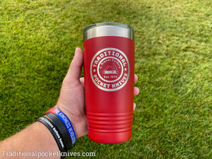 C. Risner Cutlery 20oz. Tumbler Red