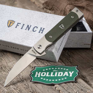 Finch Holliday Sequoia Green Linen Micarta