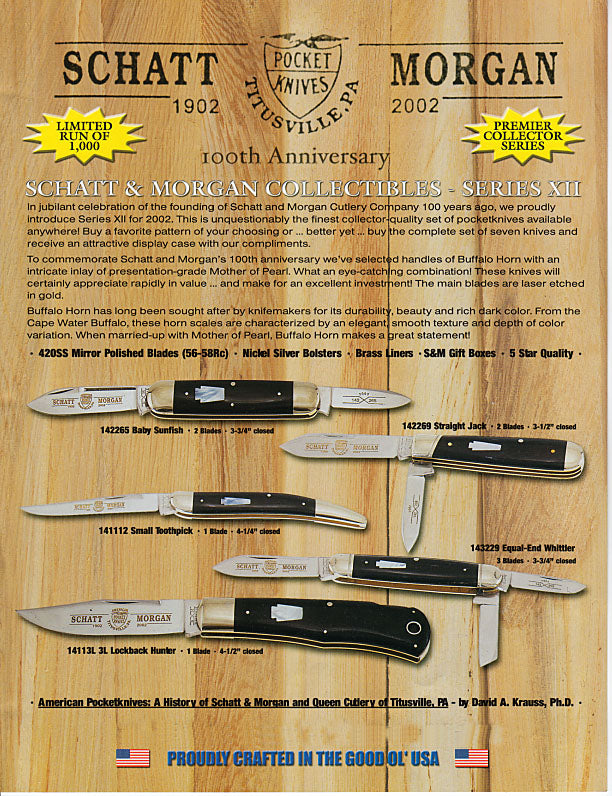 Schatt&Morgan Cutlery Keystone Series #12 Set of 7 Knives with Free  Display Case