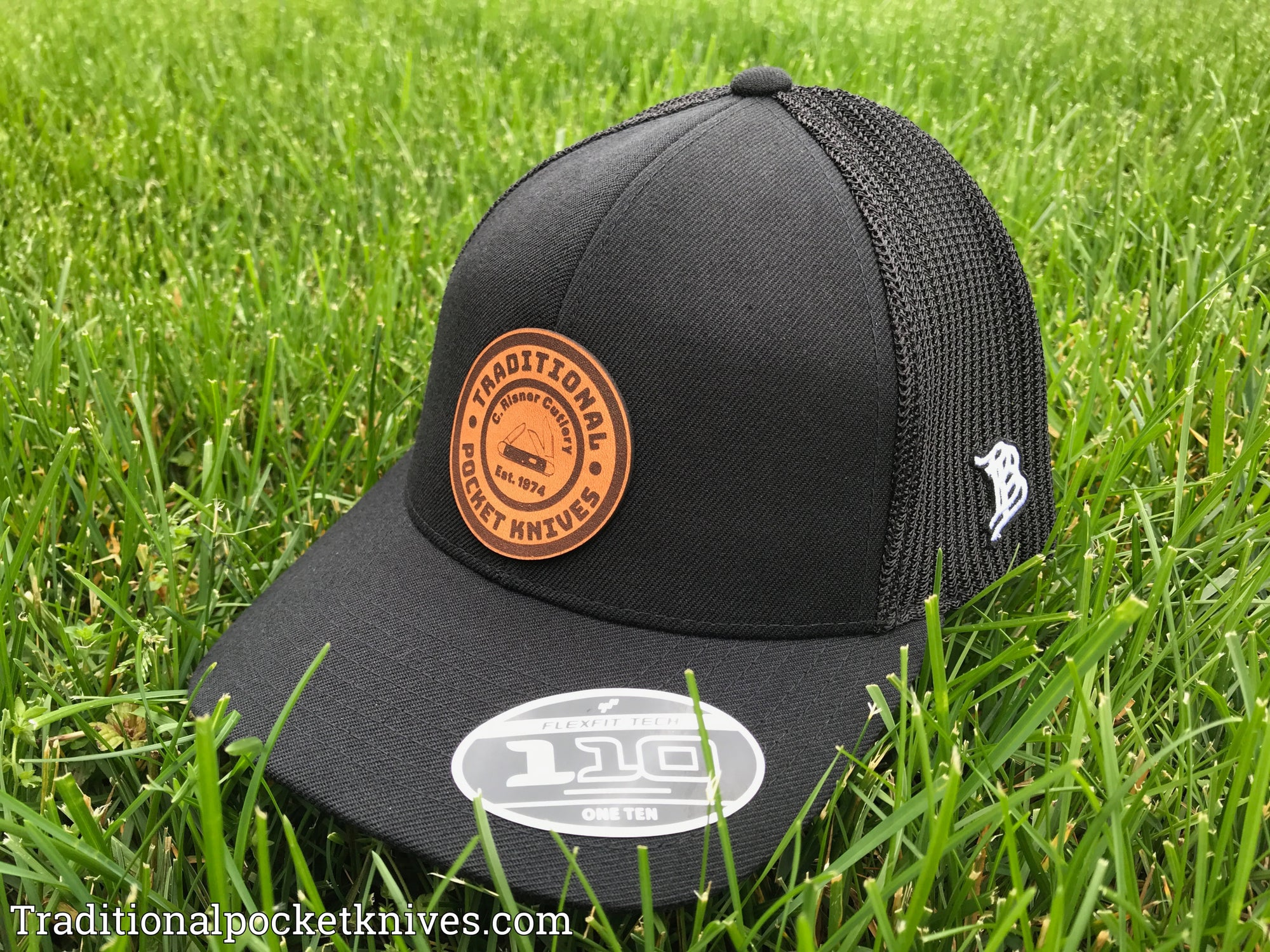 C. Risner Cutlery Branded Bills Hat Black Tan Logo