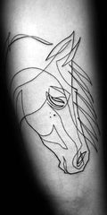 Tatouage Cheval simple