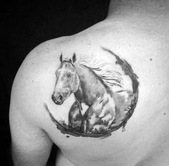Tatouage Poney