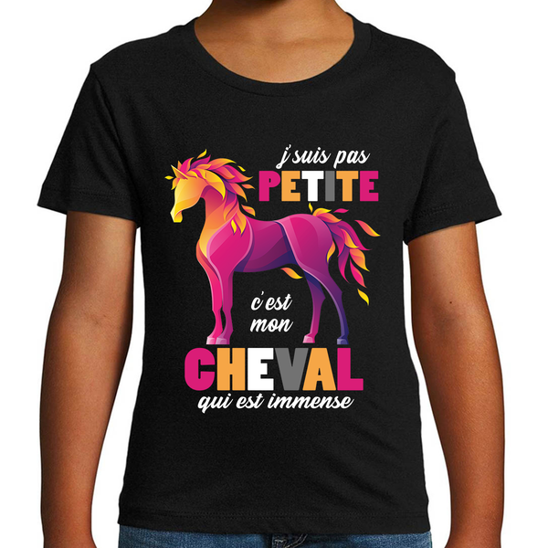 T-shirt Fille <br> Cheval Petite