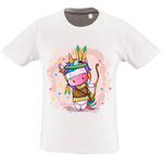 T-shirt Fille <br> Licorne Indienne