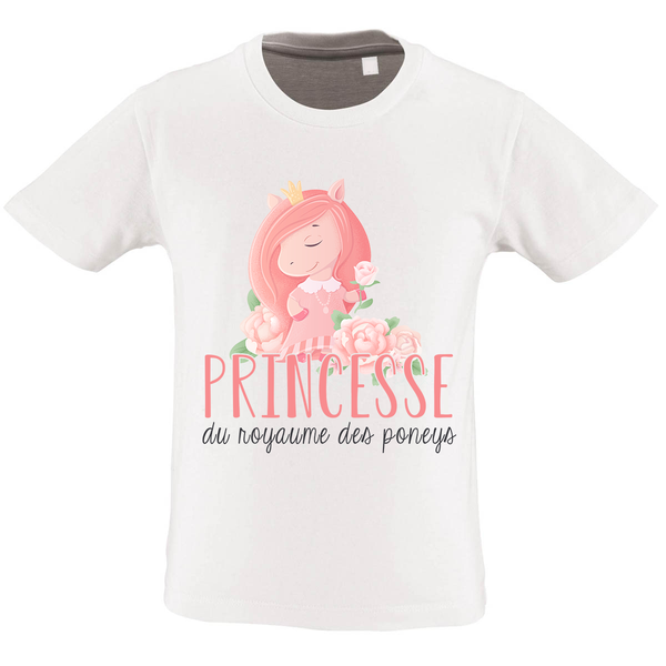 T-shirt Fille <br> Princesse Poney
